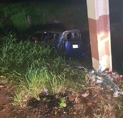 Accidente sobre la supercarretera deja una lesionada