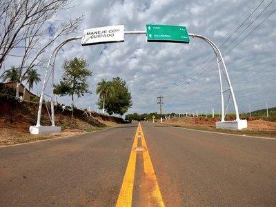 MOPC inauguró 254 km de nuevos asfaltados en Caaguazú
