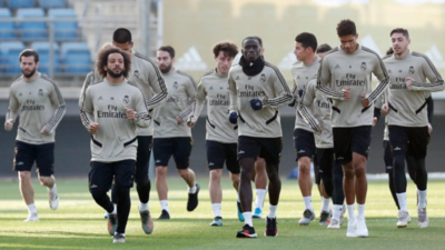 Madrid entrena de cara al City