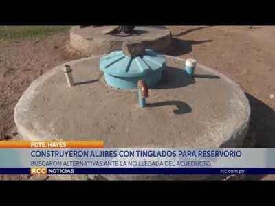 A CAMBIO DE ACUEDUCTO, CONSTRUYERON TINGLADOS CON ALJIBES EN LA COMUNIDAD INDÍGENA DE CASANILLO