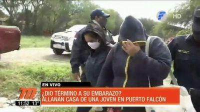 Terror en Puerto Falcón: Abortó y escondió el cuerpito dentro de una caja en su patio