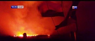 Incendio forestal de gran magnitud en zona de Pantanal