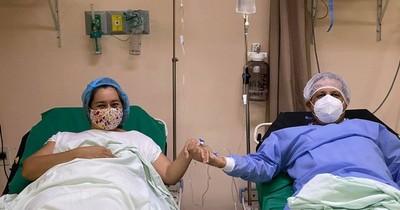 Trasplante de amor: donó un riñón a su marido y le da una nueva esperanza de vida