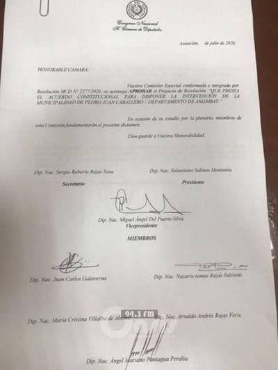 Dictamen favorable para intervención de comuna de Pedro Juan
