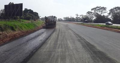 Ruta PY02: avanza parte final de pavimentación en Caaguazú