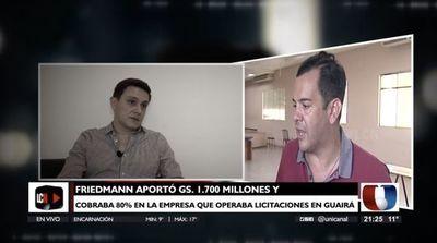 Prestanombre arrepentido destapa esquema de negociados de Rodolfo Friedmann