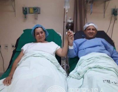 Acto de amor: mujer dona riñón a su marido