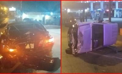 Presunto conductor alcoholizado protagonizó violento choque