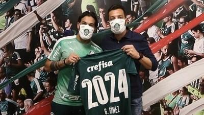 Gustavo Gómez renueva contrato con el Palmeiras hasta el 2024