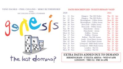 Genesis reprograma las fechas de su gira