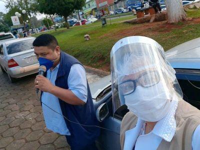 Con megáfono, piden extremar cuidados en Ciudad del Este