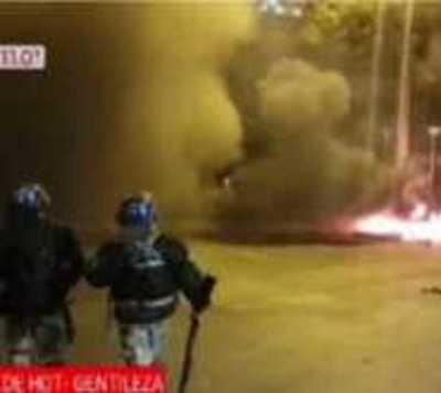 Violenta protesta en CDE contra cuarentena total