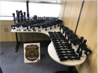 Policía de Brasil intercepta red que traficaba armas desde Paraguay
