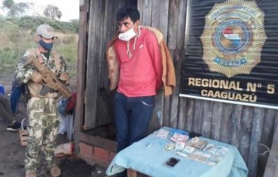 Detienen a presunto microtraficante de drogas en Coronel Oviedo