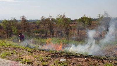 Se siguen provocando incendios en la Costanera de Asunción