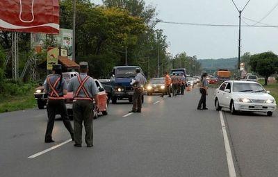 Caminera dará apoyo logístico para control de acceso y salida en Alto Paraná
