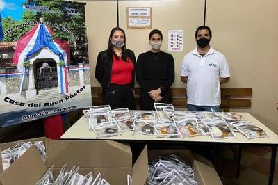 Entregan kits de bioseguridad e higiene personal en Buen Pastor