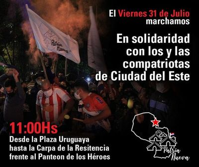 Marcharán en Asunción en solidaridad con Ciudad del Este