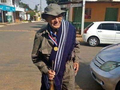 Excombatiene cumple 107 años recordando anécdotas de la Guerra del Chaco