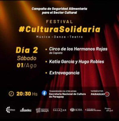 Este sábado se trasmite segunda edición del Festival Cultura Solidaria