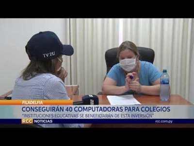ADQUIRIRÁN 40 COMPUTADORAS PARA EL COLEGIO TÉCNICO FILADELFIA Y EL CREP