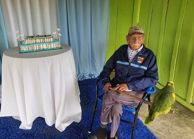 Único excombatiente de Loreto cumple 106 años