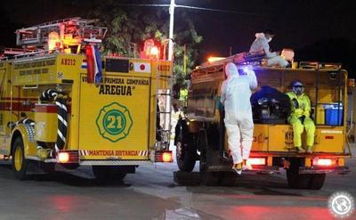 Bomberos de Areguá a cuarentena tras asistir a accidentado con Covid-19 • Luque Noticias