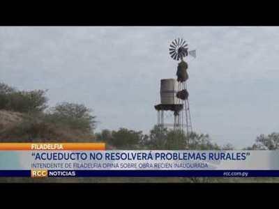ACUEDUCTO NO RESOLVERÁ PROBLEMAS DE LAS ZONAS RURALES DEL CHACO CENTRAL