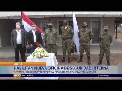 HABILITAN NUEVA OFICINA DE SEGURIDAD INTERNA EN LA LOCALIDAD DE  LOLITA
