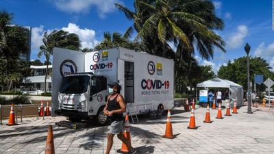 Por quinto día consecutivo, Florida reportó más de 9.000 casos de COVID-19