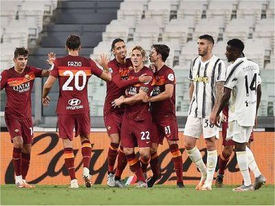 Roma gana a una Juventus sin Cristiano ni Dybala antes de duelo con Sevilla