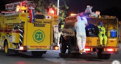 Tres bomberos van a cuarentena