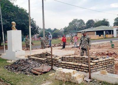 Construyen monumento a los  héroes en Curuguaty