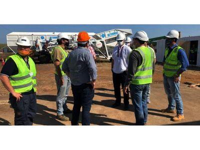 Mario Abdo visitó obras de maquinización de Añá Cuá