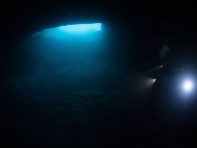 Hallan raros cenotes de agua dulce en el fondo del Caribe mexicano