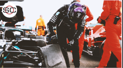 Pese al 'pinchazo' sobre el final, Hamilton ganó el GP de Gran Bretaña