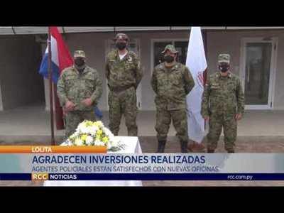 AGENTES POLICIALES SATISFECHOS CON NUEVA OFICINA DE SEGURIDAD INTERNA EN LOLITA