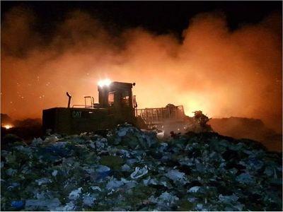 Más de 4 horas de trabajo para controlar voraz incendio en Cateura