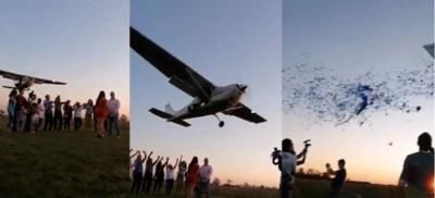 (VIDEO) Con una avioneta, les dijeron que se venía el nene