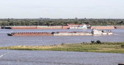 Tras acuerdo con Brasil, más de 100 barcazas transportarán productos nacionales