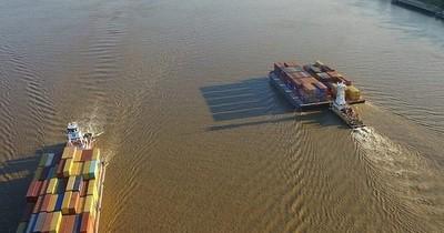 Unas 100 barcazas podrán salir por el río Paraná