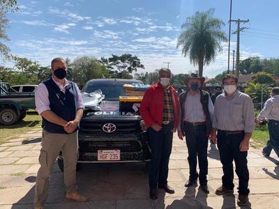 Donaron una camioneta para el control del abigeato en Alto Paraguay