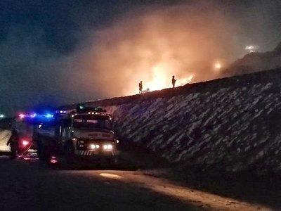 Fuego en Cateura pudo haber sido por cigarro