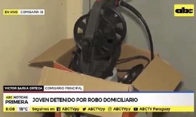 Capturan a joven por robos en San Vicente