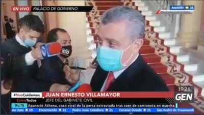 HOY / Juan Ernesto Villamayor, dijo que las denuncias sobre Rodolfo Friedmann no son objeto de análisis porque ahora la prioridad es el Presupuesto 2021