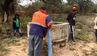 Continúan trabajos de asistencia de la SEN con agua y alimentos en el Chaco