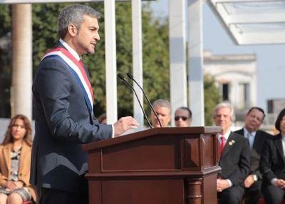 Discurso presidencial: Mario Abdo asume públicamente varios compromisos