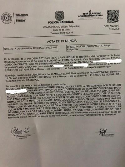 Abogado denuncia presunto intento de extorsión