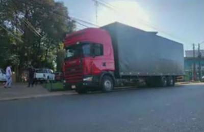 Ciudad del Este: Cae camión con presunto contrabando