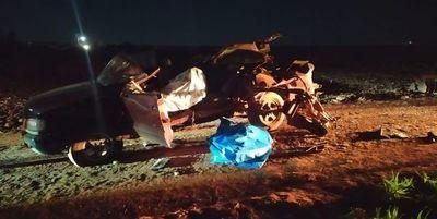 Dos muertos en accidente de tránsito en Iruña